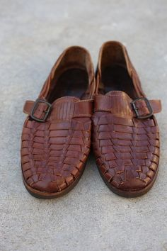 89a31422540007 Sunsteps Huarache Brown Hand Woven Leather Sandal Loafer Slip On Men s Size  8  fashion