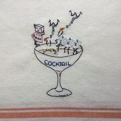 Anthropomorphic Cocktail by StitchinTimeStudio on Etsy