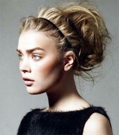 Coiffure rock cheveux long