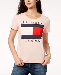 6d533c5109 Tommy Hilfiger Cotton Embroidered Logo T-Shirt, Created for Macy's Tommy  Hilfiger Fashion,