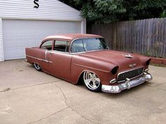 Bagged 55 Chevy my wheel size again I love It