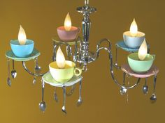 Coffee Cup Chandelier. $299.00, via Etsy.
