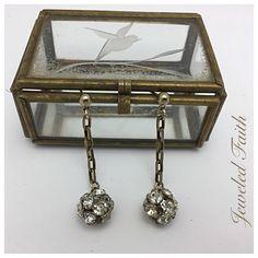 Vintage rhinestone disco ball earrings from my Etsy shop https://www.etsy.com/listing/533230691/rhinestone-earrings-rhinestone-disco