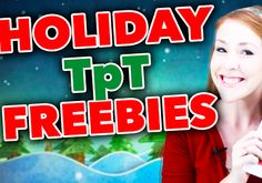 Holiday TpT Freebies Compilation Video!! See fantastic Christmas freebies in action that will add a sparkle to your classroom this holiday season!