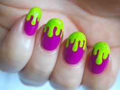 Green and Purple Nails