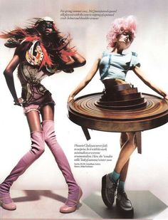 McQueen (left) and Hussein Chalayan (right)