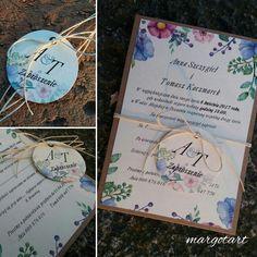 Wiosenne zaproszenia ślubne.  Naturalne i proste a za razem nowoczesne
