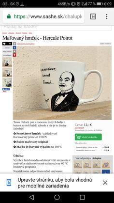Hercule Poirot, Mugs, Tableware, Kitchen, Dinnerware, Cooking, Tumblers, Tablewares, Kitchens