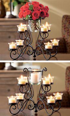 Decorative Glass Candleholder Centerpiece