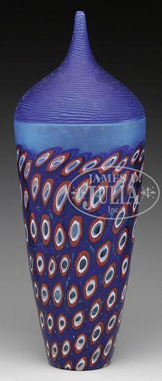 MURANO ART GLASS VASE.