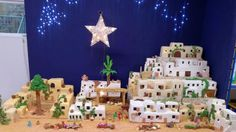 Jesus's birthplace has been fashioned out of cake to raise money for a Peak District school. Baker Lynn Nolan spent five months making this long edible version of Bethlehem, which includes of icing. Cheap Christmas, Christmas Time, Nativity Church, Church Of England, Marzipan, Food Festival, How To Raise Money, No Bake Cake, Icing