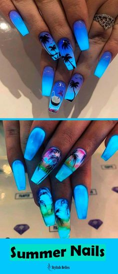 cute summer nail designs to copy - nails - . - 18 cute summer nail designs to copy – nails – / A …, Best cute summer nail designs to copy - nails - . - 18 cute summer nail designs to copy – nails – / A …, Best - Cute Summer Nail Designs, Cute Acrylic Nail Designs, Cute Summer Nails, Nail Summer, Tropical Nail Designs, Summer Toenails, Bright Summer Nails, Blue Nail Designs, Spring Nails