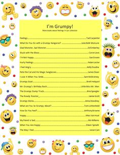 Come to the Farmington Public Library to check out more books about feelings, emotions, and being grumpy.
