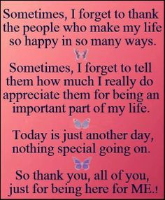 Thank you! For yesterday and today..