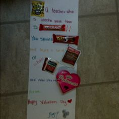 A valentines day gift to my girls teacher !!!!