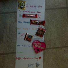 Cute teacher valentine