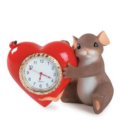 Charming Tails 84/142 You Make My Heart Tick 2006 Real Clock Mouse Love   eBay