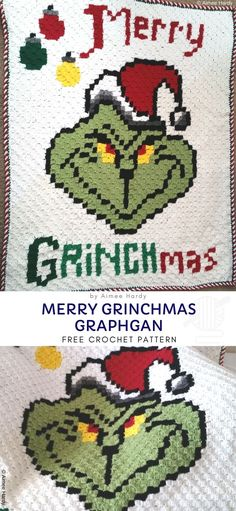 grinch scarf crochet pattern free Christmas is now vastly approaching and everyone is impatiently waiting for the holiday season to start. The Grinch movie is one of tho C2c Crochet, Basic Crochet Stitches, Crochet Basics, Free Crochet, Crocheted Afghans, Crochet Blankets, Chrochet, Christmas Scarf, Crochet Snowman
