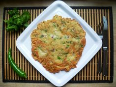 Snídaňová omeleta zcizrnové a celozrnné mouky