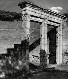 Herbert List  GREECE. Peloponnese. Epidaurus. Theater. 1937.