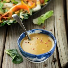 Spicy Asian Ginger Salad Dressing   perfect for all your favorite summer salads!   #vegan #cleaneating #glutenfree