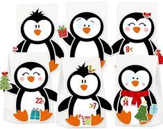 Advent Calendar X-Mas Friends for Filling & Crafting DIY Complete Set for Kids No Glue and No Scisso - Tinte