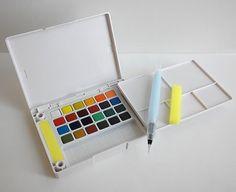 Sakura Assorted Koi Water Colors Pocket Field Sketch Box, 24