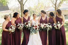 Burgundy and Blush Wedding Florals The French Bouquet Tulsa, Ok Spain Ranch Photos: Kelbert McFarland Photography