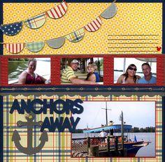 Anchors away! Disney scrapbook layout http://disneyscrappers.ning.com