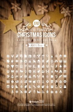 110 Free Christmas Icons – 100% Vectors