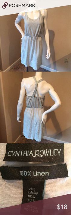 Cynthia Rowley meant 100% linen size small dress Cynthia Rowley mint size small 100% linen dress. Bust 16 inches, length 35 inches. Cynthia Rowley Dresses Midi