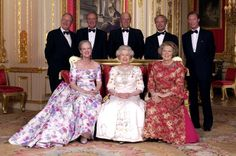 ( L To R Front): The Queen Of Denmark, Queen Elizabeth II, The Queen Of The Netherlands. Behind: The King Of The Belgians, The King Of Spain, The King Of Norway, The King Of Sweden, The Grand Duke Of Luxembourg. (l To R Front) : Queen Margrethe II, Queen Elizabeth II, Queen Beatrix; (l To R Behind : King Albert II, King Juan Carlos, King Harald, King Carl Gustaf, Grand Duke Henri Of Luxembourg.