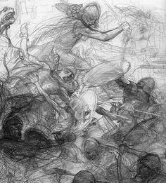 Alan Lee The Armies Gather (off 'The Lord of the Rings Sketchbook')
