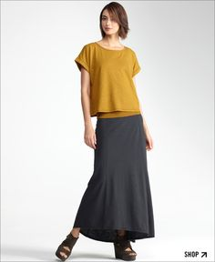 I have a feeling Eileen Fisher will play into my next phase of style. Like the artistic aunt without the patchwork.    ][Shop Looks We Love at Eileen Fisher