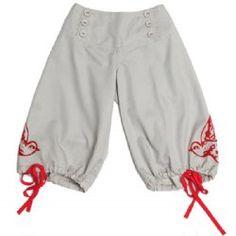 paper wings swallow print 3/4 trousers  -soooo adorable