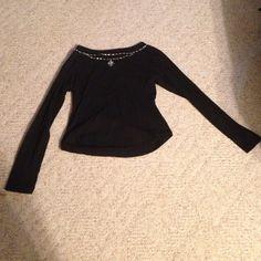 black shirt worn couple of times. pet and smoke free Tops Tees - Long Sleeve