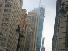 NYC under grey skies