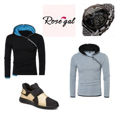 """""""Rosegal men-41"""" by seldy-enes ❤ liked on Polyvore featuring men's fashion and menswear"""