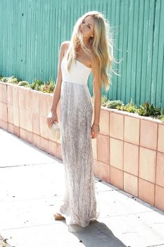 one shoulder maxi