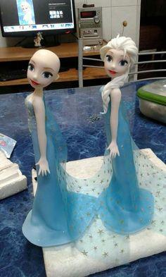 hermoso! Disney Frozen Cake, Frozen Theme Cake, Frozen Birthday Cake, Frozen Cake Topper, Frozen Party, Fondant Flower Cake, Fondant Rose, Fondant Baby, Fondant Cakes