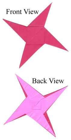 How to make a counterclockwisely rotating origami ninja star (http://www.origami-make.org/origami-star-ninja-counterclockwise.php)