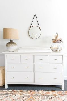 White Changing Table Dresser – Deco World Nursery Modern, White Nursery, Nursery Neutral, Modern Nurseries, Nurseries Baby, Neutral Nurseries, White Changing Table Dresser, White Dressers, Changing Tables