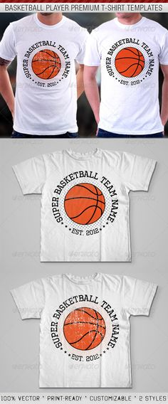 Basketball Player Premium T-Shirt Template - DOWNLOAD NOW