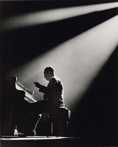 onmyowntwohands:    Herman Leonard, Duke Ellington, Paris, 1958.    As Stevie Wonder called him, Sir Duke.