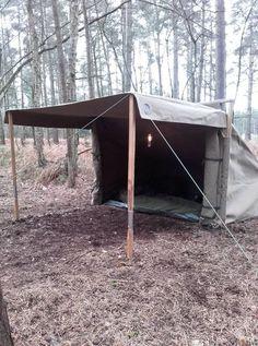 Baker Tent matt sand in the woods