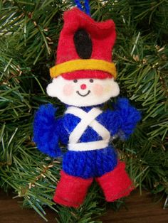 Vintage Christmas Ornament – yarn toy soldier – 1970s Hallmark ornament by RetrowareExchange on Etsy