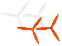 Microheli Plastic 3D 3 Blade Propeller 4535 set (WHITE-ORANGE) - BLADE 200QX Drone Quadcopter, Blade, Plastic, 3d, Orange