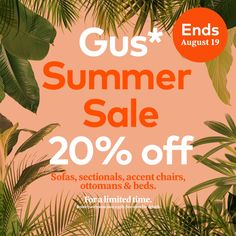 Today is the final day! It's your last chance to save big on those furniture pieces you've been daydreaming about. There's 24 hours left in our Gus* Summer Sale. Summer Sale, Contemporary Design, Home Accessories, Modern Furniture, Big, Home Decor Accessories, Contemporary Furniture