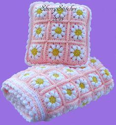 Ravelry: Princess Daisy's Flower Blanket pattern by Sherry L. Farley