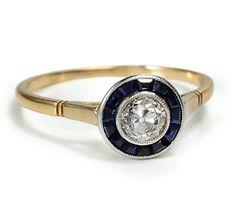 Diamond and sapphire estate ring.